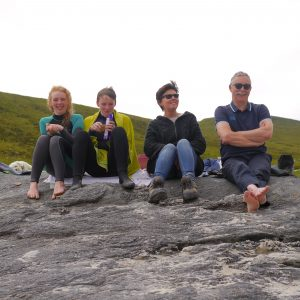 Irish family at Achill Island